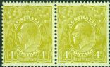 SG 129 ACSC 117(4)e. KGV Head 4d Yellow-Olive (AHSM5/2)